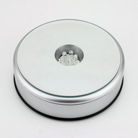 Wholesale 124mm Unique Rotating Crystal Display Base Stand LED Light