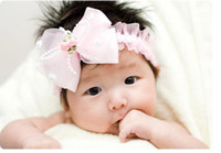 Wholesale Big Bowknot baby Headband Kid s Hair Ornaments Girl s Headwear Baby accessories