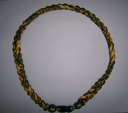 Wholesale - -NCAA titanium sport necklaces ,LSU Three ropes Titanium Tornado necklace mixed
