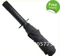 Wholesale Short Ninja Dagger Collapsible Umbrella Folding K Mini samurai sword umbrella
