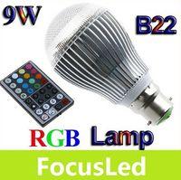 Wholesale 2013 Highest Power RGB B22 W V Led Bulb Light Lamp Million Color With Memorize Controller