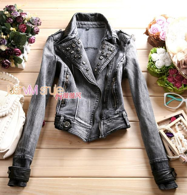2012 Slim Women's Denim Jacket Multi Zipper Lapel Short Jackets For Ladies Fashion Coats From Wishsucceed168, $29.2 | Dhgate.Com