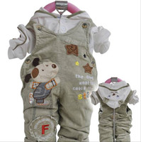Boy/Girl baby boy suspenders - 2012 baby clothing suspender trousers set cotton kids T shirt pants baby boy girl suit Clotes