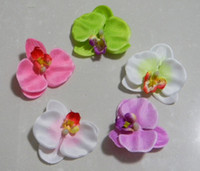 Wholesale DIY Moth Orchid Head Artificial Flowers Garment Mix Order Colors