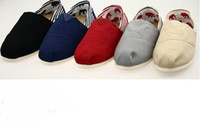 ballet flats - NEW men s women s Classic with Stripe canvas shoes casual shoe Lazy ballet Flat shoes pairs