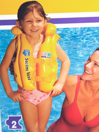 1 pcs INTEX POOL SCHOOL STEP 2 BEACH FLOAT INFLATABLE AID SWIM VEST Color Yellow