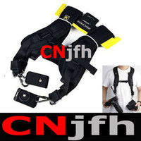 Wholesale Quick Double Shoulder Sling Black Dual Strap Belt Strap For Cameras DSLR SLR Camera