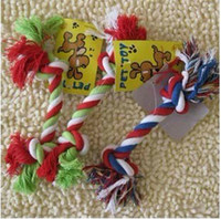 Wholesale Hot Selling Pet Dog Chew Cotton rope Braided Rope Knot Molar Toys