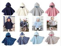 Wholesale Two sided wear Reversible baby capes jackets cloaks babies clothing infants Quality