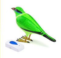 Wholesale Hot Pieces Blue Bird Cartoon Wireless Remote Control Chime Doorbell Alarm