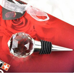 Wholesale Hight Quality Crystal Ball Red Wine Bottle Stoppers Wedding Favors Bridal Party Gifts