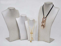 Wholesale Fashion Jewelry display Mannequin Necklace Display jewelry models PU Leather