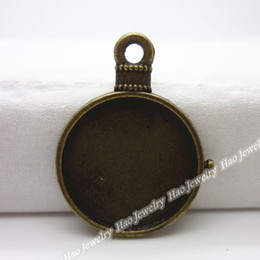 Charm of antique bronze round photo frame pendant 100pcs zinc alloy jewelry accessories fashion
