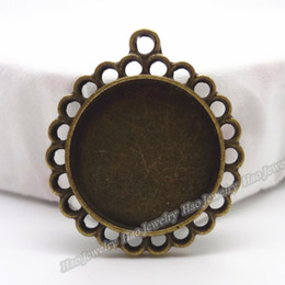 Charm of antique bronze round photo frame pendant 70pcs zinc alloy jewelry accessories fashion