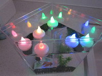 Wholesale Multicolor Waterproof LED Flicker Floating Tealight Candle for Wedding Party Centerpieces Xmas Gifts