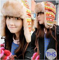 Wholesale Women Winter Hat Earflap Russian Trooper TRAPPER Faux Fur Hat Ski Beanie Hats Outdoor Sport Caps