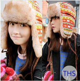 Descuento sombreros trampero Sombreros de mujer sombrero del invierno orejera soldado ruso TRAPPER Faux Fur gorro esquí casquillos del deporte al aire libre