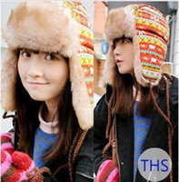 Wholesale Women Winter Hat Earflap Trooper TRAPPER Faux Fur Hat Ski Beanie Hats Outdoor Sport Caps Best gift