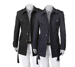 Wholesale 2012 Fashionable man cultivate one s morality dust coat Single button leisure long dust trench coat