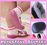 Cotton baby sock shoes skidders - New Arriving Baby Skidders baby rubber shoes Baby Socks Shoes combined model pairs