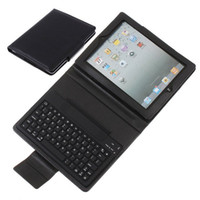 Wholesale Wireless Bluetooth Keyboard Leather Case for New iPad iPad Waterproof and Dustproof QWERTY key