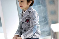 Wholesale China Factory export Children Clothing Boy s Clothes Baby Clothes Kids Stripe Boys Coat Suit Apparel