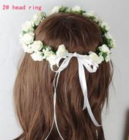 Wholesale bride wreath children head ring tire hair accessory performance accessories