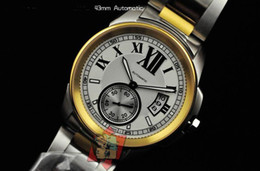 Grand Calibre De 18K Gold Stainless steel Date Mens Automatic Watch Men's Sports Watches White Dial
