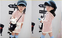 Girl 2-6Y 90-100-110-120-130 China Factory Wholesale Children Clothing Autumn Girl's Clothes Girl child long hoodies dress coat