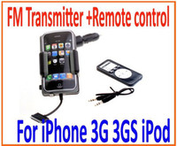 Wholesale Wireless FM Transmitter Remote control for Apple For iPhone G GS iPod with Retail Package