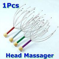 Wholesale 10pcs Head Neck Scalp Massager Massage Equipment Stress Relax With Wood Handle New