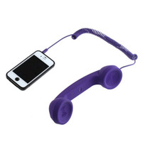 Wholesale Retro POP Phone Handset for iPhone HTC Samsung PC Mac Purple Color