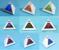 Wholesale New LCD Pyramid Triangle Clock Alarm Multi Color Night