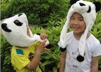 Wholesale Newest Cartoon Animal Panda Fluffy Plush Hat Cute Cap Soft Beanie Ear Flaps Christmas Gift