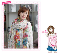 Wholesale Lady scarf rural scenery Cold Packs Cooling beauit scarf Sport Wraps colour piece