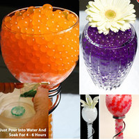 Wholesale Water Gel Beads Pearls Crystal Soil Mud for Wedding Party Vase Decor Floral Arrangment Mixed Colors