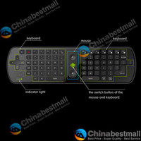 Wholesale 2 G Wireless Air Fly Mouse Keyboard Gyroscope for PC ANDROID OS TV Box Smart TV Notebook RC11 Black