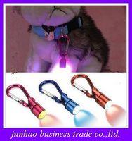 Wholesale Pet Color LED Night Light Emitting Pendants Cat and Dog Luminous Safety Collar Tag Flash Tracker