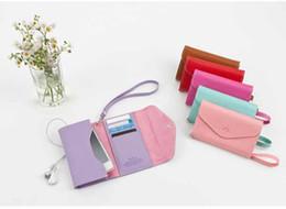 Wholesale Korea Ardium Wallet Leather Smart Flip cute Pouch Card Purse Handbag cover for iphone S i9100