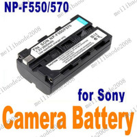 Wholesale 10pcs J75 V mAh Camera Li ion Battery Pack for Sony Camera NP F550 NP F570