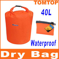 Hydration Packs Orange Waterproof Dry Bag 40L Water Resistant Waterproof Dry Bag for Canoe Floating Boating Kayaking Camping H8071M