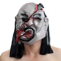 Wholesale The maskn horror Black cloth napkins latex mask halloweeBar dance party KTVmask performing10pcs