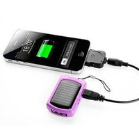 Wholesale Supply solar charger new compact solar charger keychain charger with LED light MD966 mobile phone