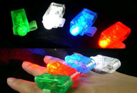 Wholesale LED Lighted Toys LED Finger Ring Lights Glow Laser Finger Beams Party Flash Kid Toys Colors
