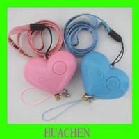 Wholesale 9464 Heart shaped Anti lost Alarm hand pull style losing avoid antilady killer personal alarm