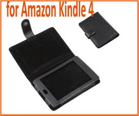 7'' kindle 4 case - Protective PU Leather Case Cover for Amazon Kindle Case for Kindle Black Color Book style