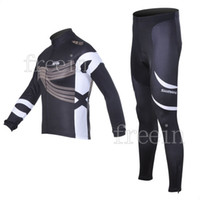 Wholesale 2012 New Arrival Men SHIMANOS Winter Black Bike Cycling Jersey Long Pants Big Discount