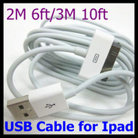 Wholesale 6FT FT USB Data Sync Charger Cable M M Line Cord for Cell Phone Ipad for Iphone4s G G