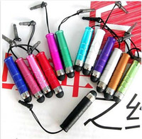 Wholesale Stylus Pen Capacitive Touch Pen Universal Dust Cap Strap For iPhone4S GS iPad iPod Touch Phone