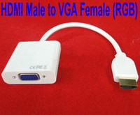 Wholesale HDMI Male to VGA Female RGB Converter with package HDMI Jack to VGA Plug connector